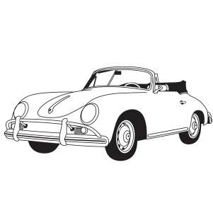 Porsche Car Svg