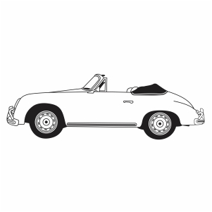 Vintage Porsche car vector