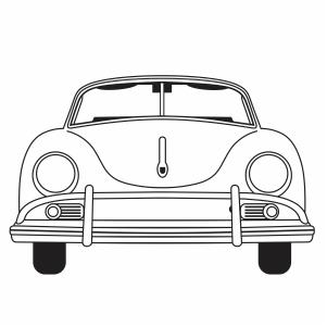 Vintage car svg