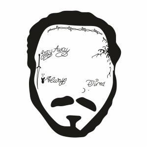 Post Malone Face Svg