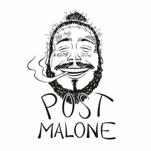 Post Malone Hair Style Svg