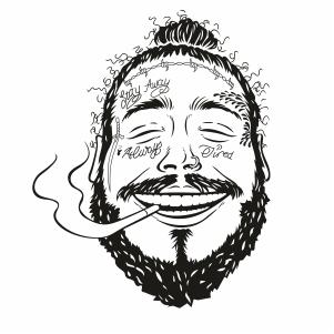 Post Malone Smoking Svg