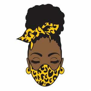 Lady With Leopard Mask Vector
