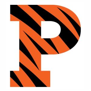 Princeton Tigers logo vector image