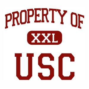 Property of xxl usc logo Vector file