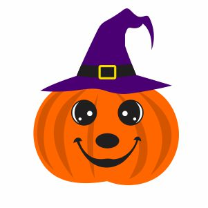 Pumpkin With Witch Hat Svg