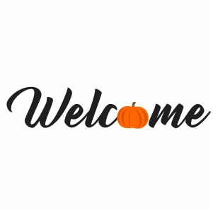 Pumpkin Welcome Svg