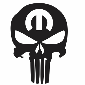 Punisher Skull Mopar vector