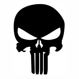 Punisher Skull logo svg cut file