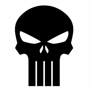 Punisher Skull Black svg cut