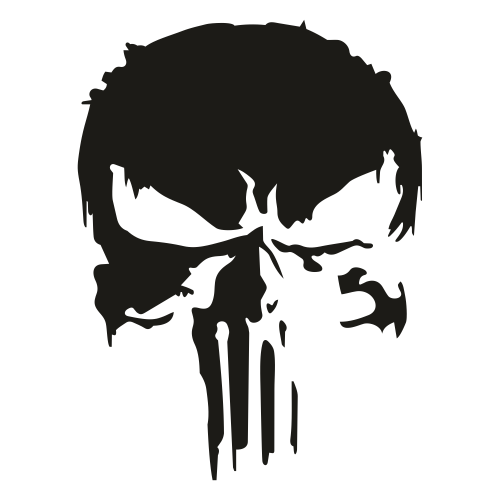 Distressed Punisher Skull Svg