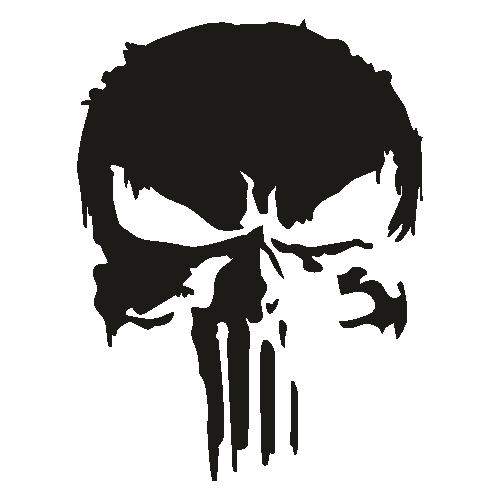 Distressed Punisher Skull Svg