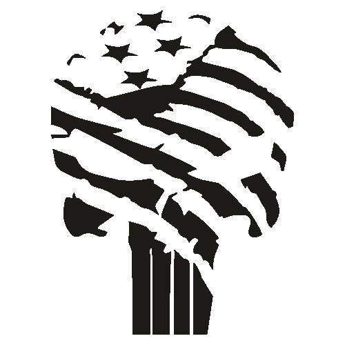 USA Punisher Skull Svg