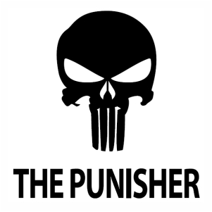 Punisher Skull svg cut file