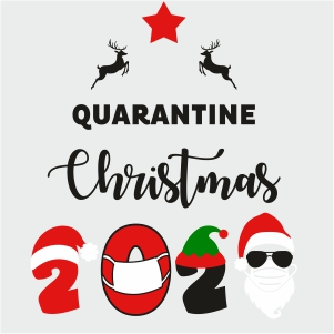 Quarantine Christmas 2020 Clipart