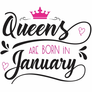 Queen are born in January SVG file