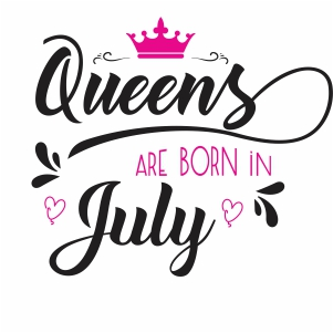 Queen are born in july SVG file