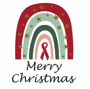 Merry Christmas Rainbow Clipart