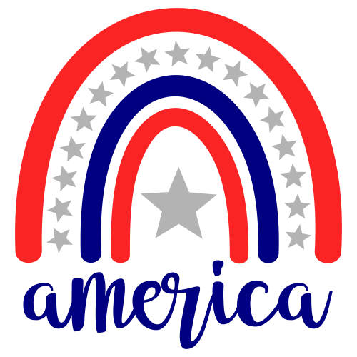 Rainbow America Svg