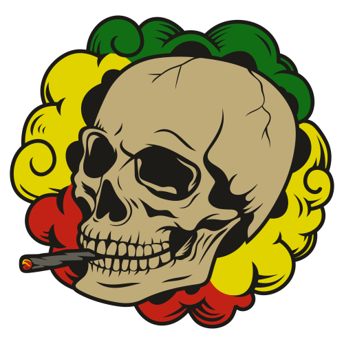 Smoking Skull Svg