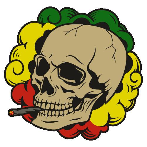 Smoking Skull Svg