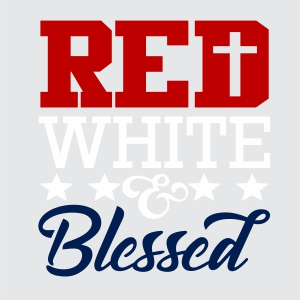 Red White and Blessed Vector
