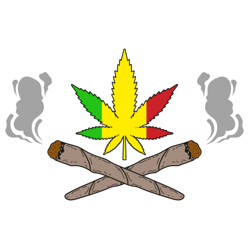 Reggae Cannabis Svg