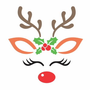 Reindeer Face Vector