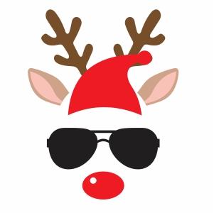 Reindeer Sunglasses Vector