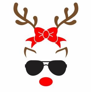 Reindeer Bow Svg
