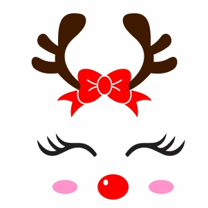 Christmas Deer Svg