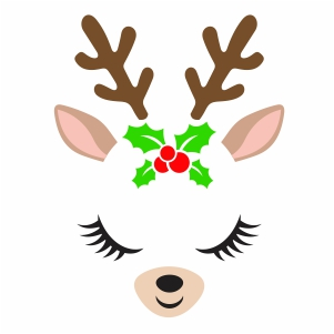 Deer Face Vector
