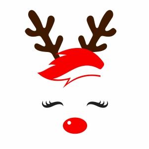 Christmas Unicorn Reindeer Vector