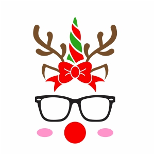 Reindeer With Glasses Svg