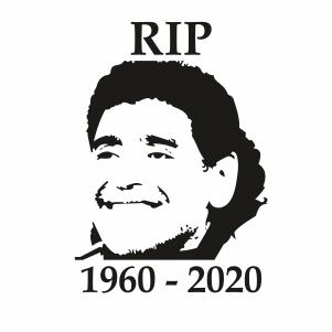 RIP Diego Maradona Svg