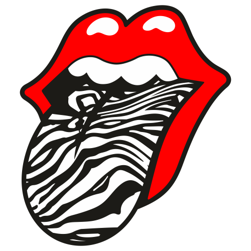 Tiger Print Tongue Out Svg