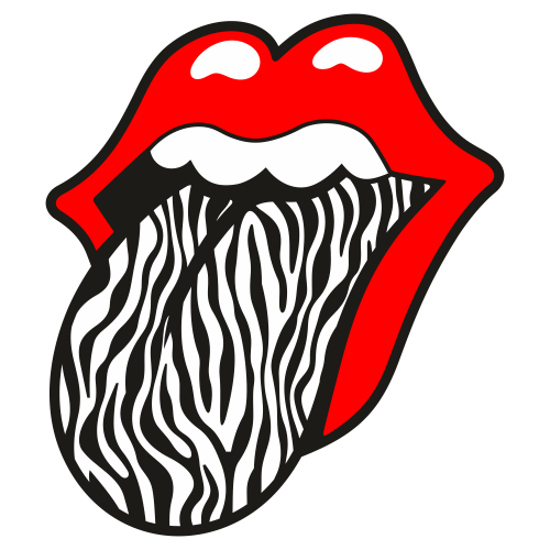 Rolling Stones Lips with Tongue Out Svg