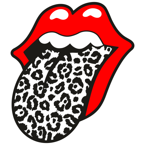 Cheetah Print Tongue Out Svg