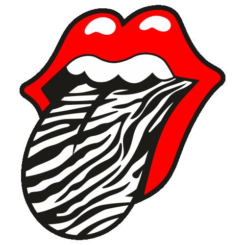 Rolling Stones Zebra Print Logo Svg