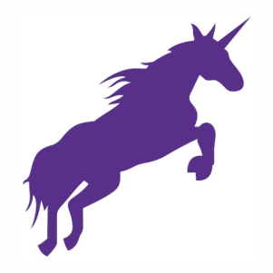 Unicorn Running Horse vector