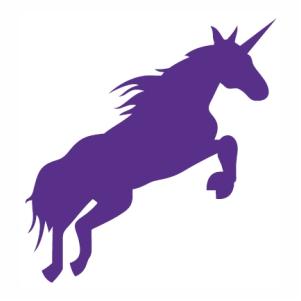 Unicorn Running Horse vector
