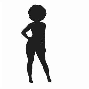 Thick Girl Vector