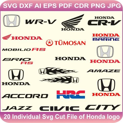 Honda Pack Logos Svg Cut Files