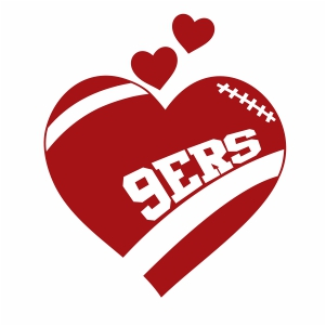 San Francisco 49ers Logo Vector San Francisco 49ers Heart Nfl Vector Image Svg Psd Png Eps Ai Format Vector Graphic Arts Downloads