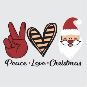 Peace Love Christmas Clipart