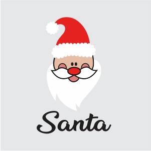 Santa Claus Face Svg