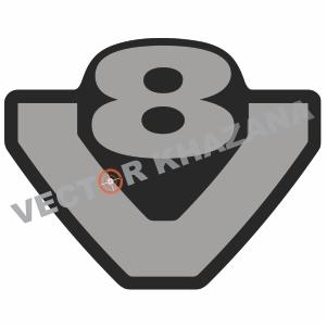 Scania V8 Logo Svg