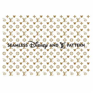 Lv Seamless Svg Seamless Disney Lv Pattern Svg Cut File Download Jpg Png Svg Cdr Ai Pdf Eps Dxf Format