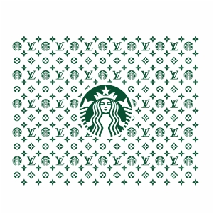 LV Starbucks Pattern Svg