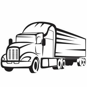 Semi truck svg cut file